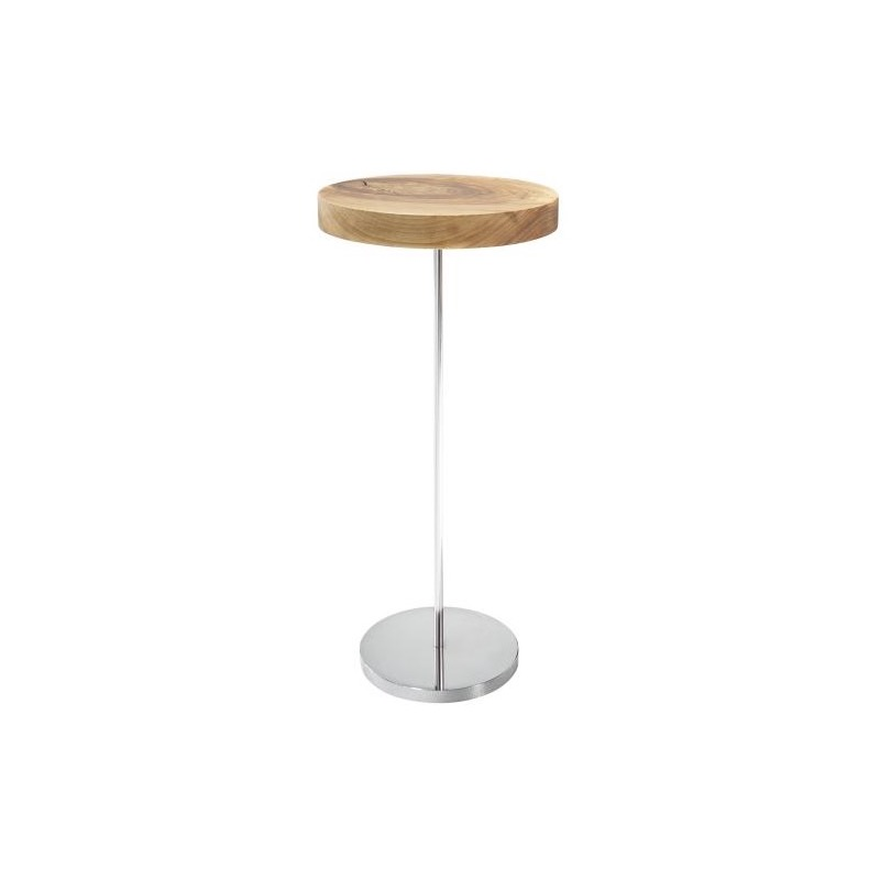 PEDESTAL TABLE BRILLIANT CHROMED BASE  Ligne Roset