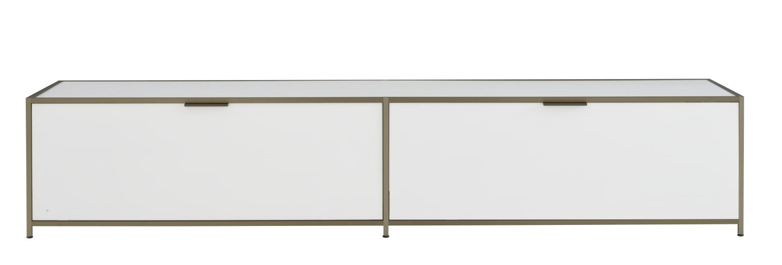 BENCH UNIT 2 FLAP DOORS WHITE LACQUER Ligne Roset