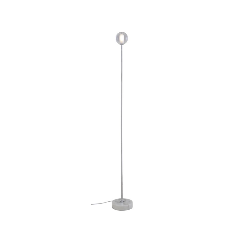 TABLE LAMP CHROMED STEEL STRUCTURE / WHITE BASE  Ligne Roset
