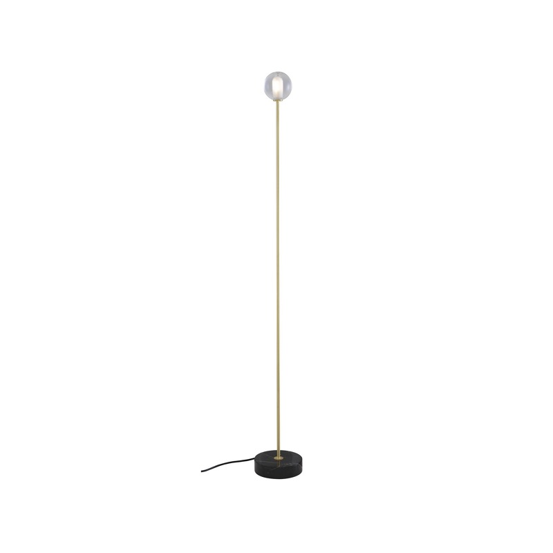 TABLE LAMP BRASS-COATED STEEL STRUCTURE / BLACK BASE  Ligne Roset